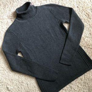 EUC RALPH Lauren dark grey turtleneck sweater